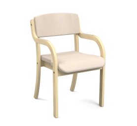 Stackable Arm Chair with Waterfall Seat